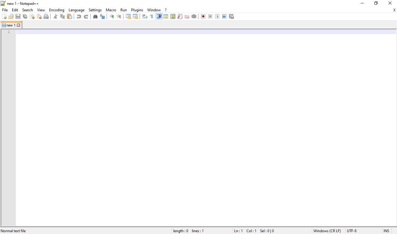 Notepad ++ User Interface